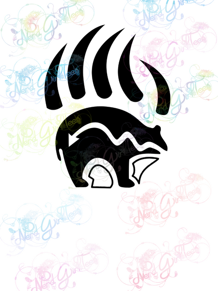 Heartline Bear Claw - Native American - Digital Print, SVG, PNG, JPG Files