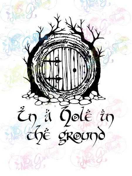Hobbit Door - In A Hole In The Ground - LOTR- Digital Print, SVG, PNG, JPG Files