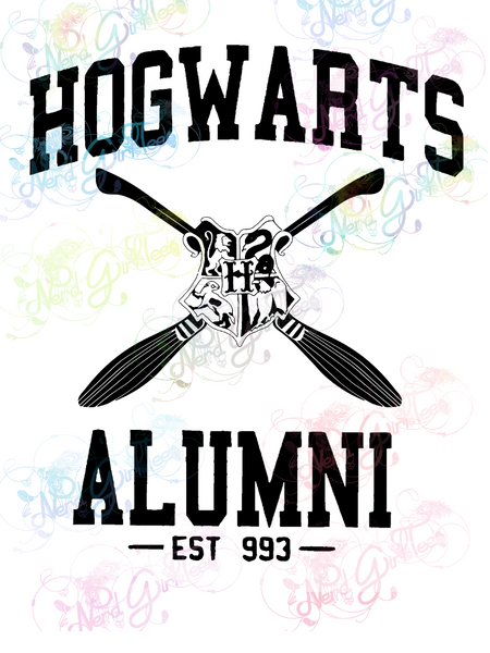 Hog warts Alumni Quidditch - Potter - Digital Print, SVG, PNG, JPG Files