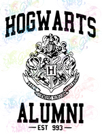 Hog warts Alumni- Potter - Digital Print, SVG, PNG, JPG Files