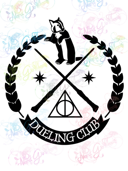 Hufflepuff Dueling Club - Potter - Digital Print, SVG, PNG, JPG Files