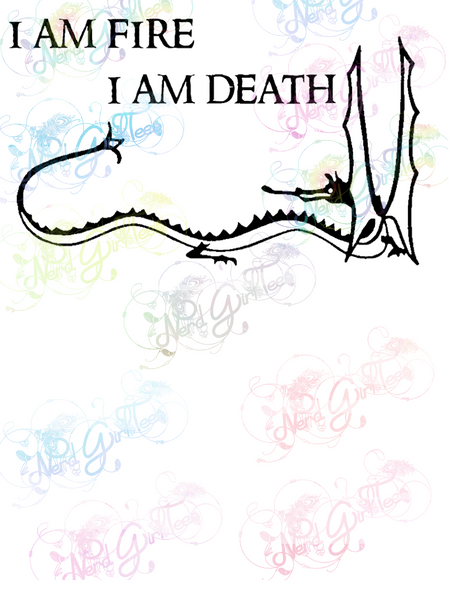 I am Fire I am Death Smaug - LOTR - Digital Print, SVG, PNG, JPG Files