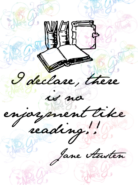 Jane Austen - I Do Declare Quote - Books - Digital Print, SVG, PNG, JPG Files