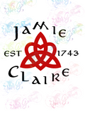 Jamie Loves Claire - Outlander - Fandoms - Digital Print, SVG, PNG, JPG Files
