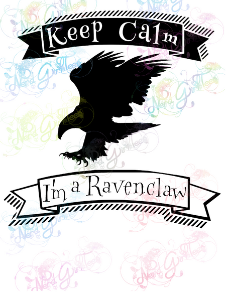 Keep Calm I'm A Ravenclaw - Potter - Digital Print, SVG, PNG, JPG Files