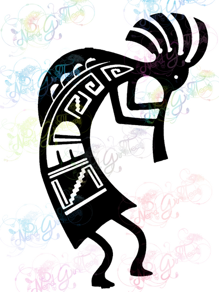Kokopelli - Native American - Digital Print, SVG, PNG, JPG Files