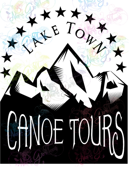 Laketown Canoe Tours - LOTR Parody - Digital Print, SVG, PNG, JPG Files