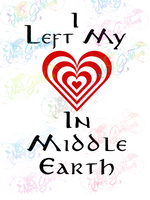 I Left My Heart In Middle Earth - LOTR - Digital Print, SVG, PNG, JPG Files
