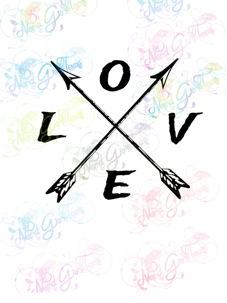 Love - Arrows - Native American - Digital Print, SVG, PNG, JPG Files