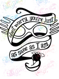Just As Sane As I Am - Potter - Digital Print, SVG, PNG, JPG Files