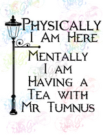 Mentally Having Tea with Mr Tumnus - Fandoms - Digital Print, SVG, PNG, JPG Files