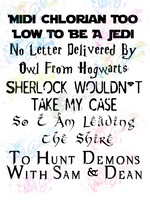 Sherlock Wont Take My Case, Leaving The Shire - Multi Fandom - Digital Print, SVG, PNG, JPG Files