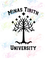 Minas Tirith University - LOTR Parody - Digital Print, SVG, PNG, JPG Files