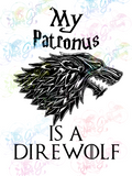 Patronus Is Direwolf - Fandoms - Digital Print, SVG, PNG, JPG Files