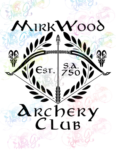 Mirkwood Archery Club - LOTR Parody - Digital Print, SVG, PNG, JPG Files