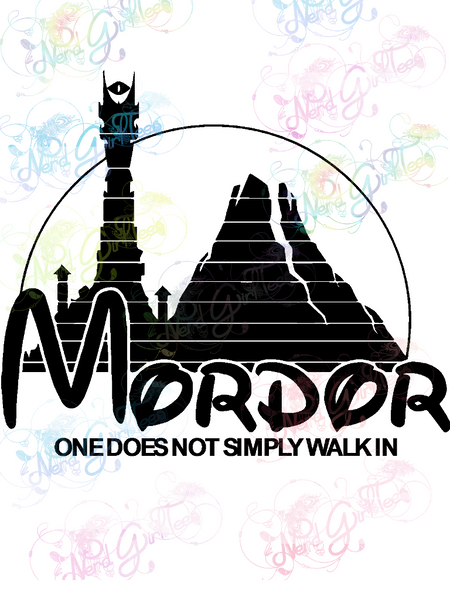 Mordor - One Doesn't Simply Walk In - LOTR Parody - Digital Print, SVG, PNG, JPG Files