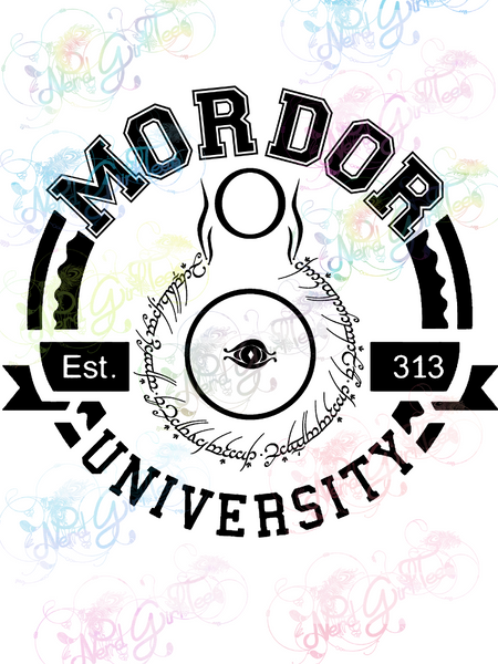 Mordor University - LOTR Parody - Digital Print, SVG, PNG, JPG Files
