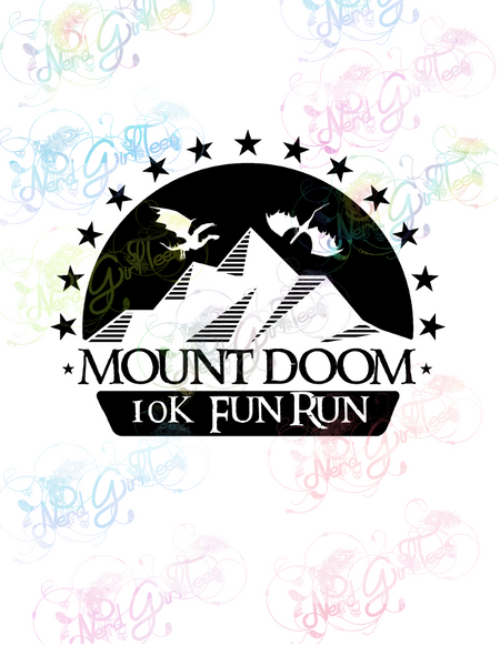 Mordor Mt Doom Fun Run - LOTR Parody - Digital Print, SVG, PNG, JPG Files