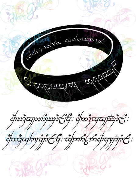 One Ring To Rule Them All - LOTR - Digital Print, SVG, PNG, JPG Files