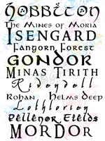 Places of Middle Earth - LOTR - Digital Print, SVG, PNG, JPG Files