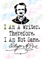 I Am A Writer - Edgar Allen Poe - Books - Digital Print, SVG, PNG, JPG Files