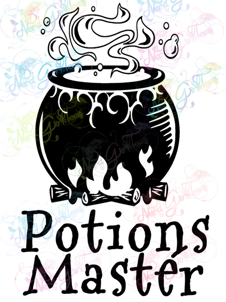 Potions Master - Potter - Digital Print, SVG, PNG, JPG Files