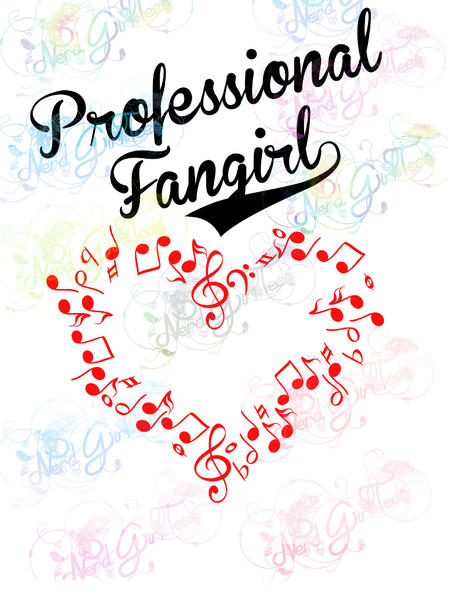 Music Fangirl - Multi Fandom - Digital Print, SVG, PNG, JPG Files