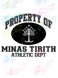 Property of Minas Tirith - LOTR Parody - Digital Print, SVG, PNG, JPG Files