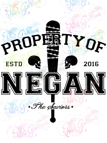Property Of Negan - Fandoms - Digital Print, SVG, PNG, JPG Files