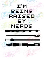 Being Raised By Nerds - Symbols - Multi Fandom - Digital Print, SVG, PNG, JPG Files