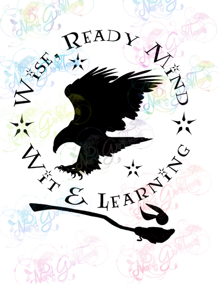 Ravenclaw Qualities - Potter - Digital Print, SVG, PNG, JPG Files