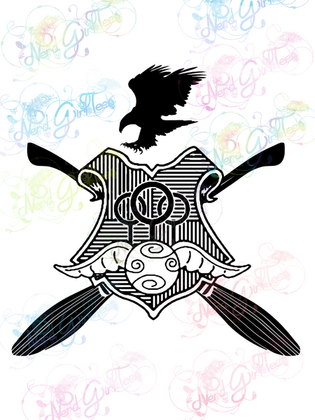 Ravenclaw Quidditch - Potter - Digital Print, SVG, PNG, JPG Files