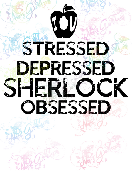 Sherlock Obsessed - Fandoms - Digital Print, SVG, PNG, JPG Files