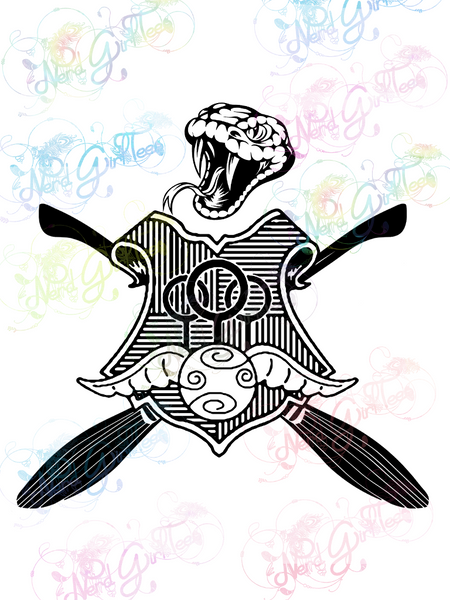 Slytherin Quidditch - Potter - Digital Print, SVG, PNG, JPG Files