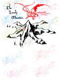 Lonely Mountain and Smaug - LOTR - Digital Print, SVG, PNG, JPG Files