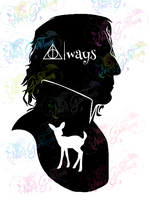 Snape Always - Potter - Digital Print, SVG, PNG, JPG Files