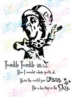 Twinkle Twinkle Little Bat Mad Hatter - Lewis Carroll - Books - Digital Print, SVG, PNG, JPG Files