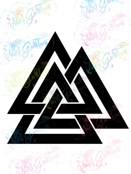 Valknut - Norse - Digital Print, SVG, PNG, JPG Files