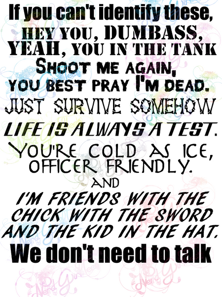 We Don't Need To Talk - Walking Dead - Fandoms - Digital Print, SVG, PNG, JPG Files