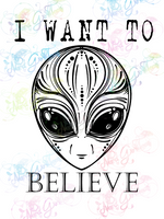 I Want To Believe - Fandoms - Digital Print, SVG, PNG, JPG Files