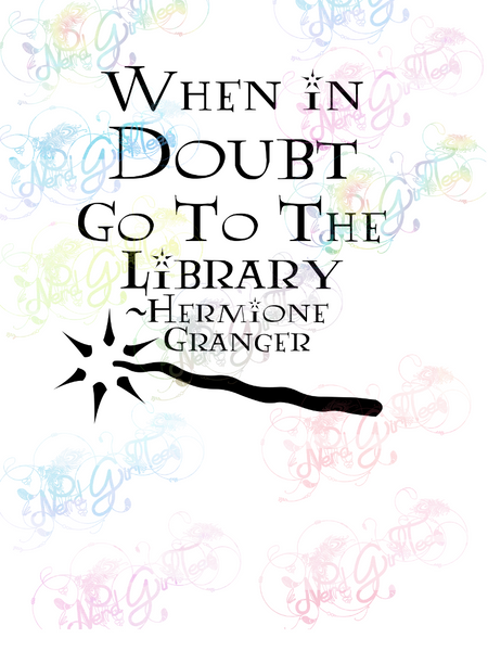 When In Doubt - Potter - Digital Print, SVG, PNG, JPG Files