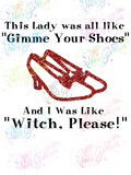 Witch Please, Ruby Slippers,  Canvas Book Tote Bag, Heavy Canvas Tote, Sling Tote Bag, Canvas Purse, Purse Bag