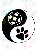 Yin Yang Ladybug - Fandoms - Digital Print, SVG, PNG, JPG Files