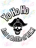 Yo Ho Ho and a Bottle of Rum - Humor - Digital Print, SVG, PNG, JPG Files