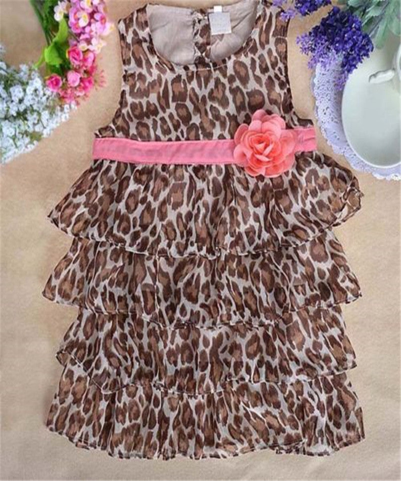 Baby Girls Leopard Print Ruffle Dress