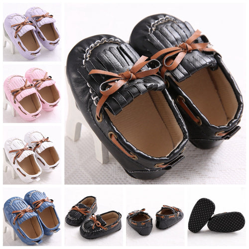 Unisex Soft Sole Leather Baby Loafers