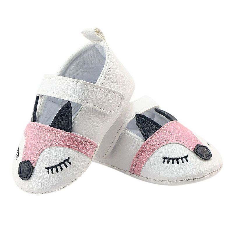 Baby Girls Fox Soft Sole Shoes with Strap