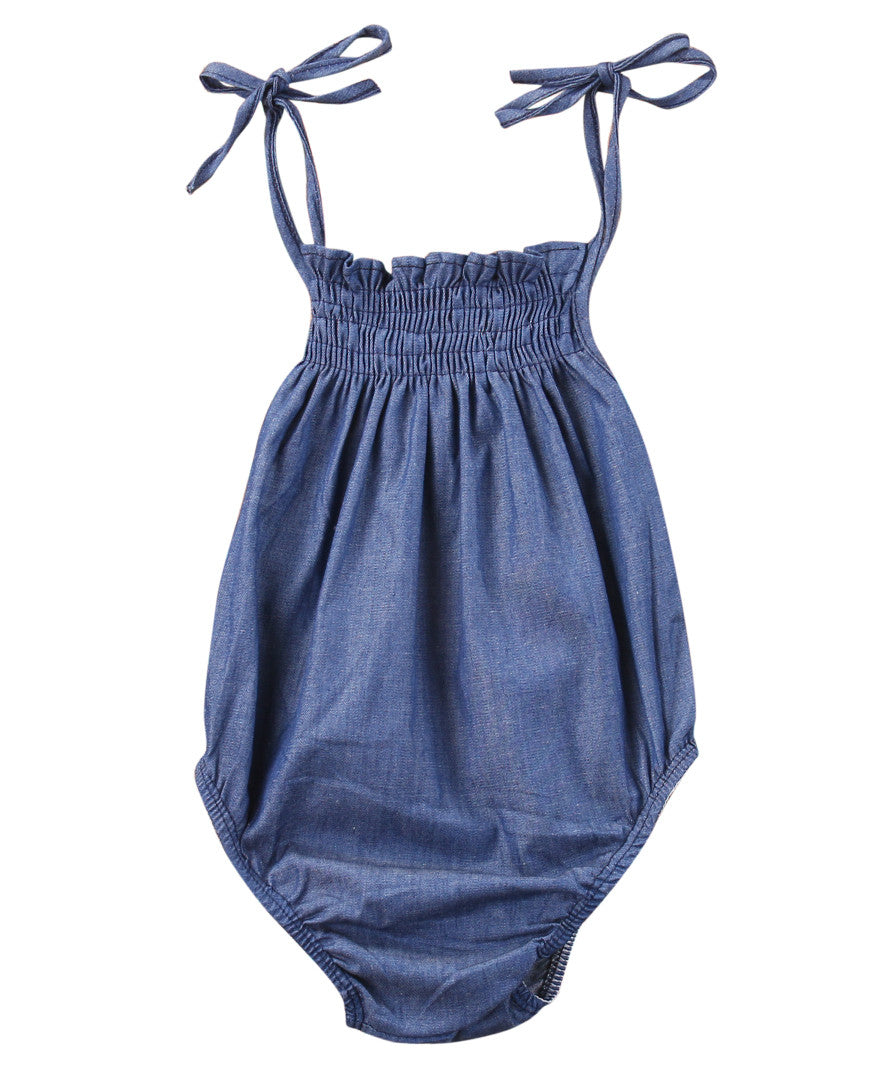 Baby Girls Denim Romper