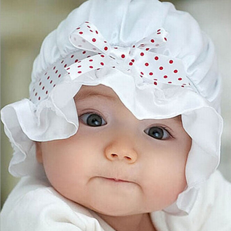 Pink or White Polka Dot Bonnet