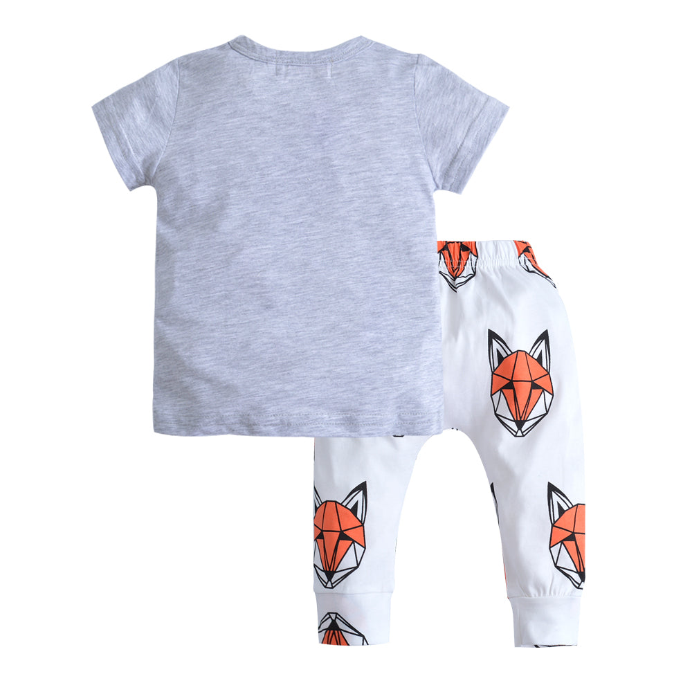 "Baby Boys ""Wild"" Geo Fox Shirt and Pants Set"